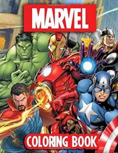 Libro para colorear de Marvel de 90 paginas Los mejores libros para colorear de los Vengadores de Marvel
