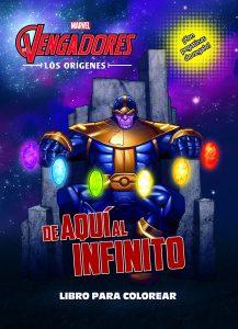 Libro para colorear de Marvel de De aqui al infinito Los mejores libros para colorear de los Vengadores de Marvel