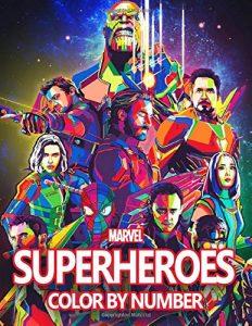Libro para colorear de Marvel por numeros Los mejores libros para colorear de los Vengadores de Marvel