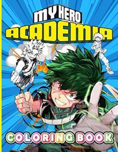 Libro para colorear de My Hero Academia de 100 paginas 2 Los mejores libros para colorear de My Hero Academia Boku no Hero