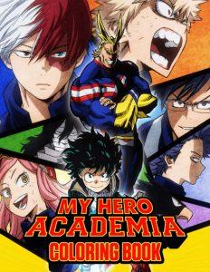 Libro para colorear de My Hero Academia de 106 paginas 3 Los mejores libros para colorear de My Hero Academia Boku no Hero