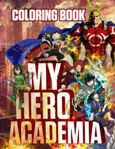 Libro para colorear de My Hero Academia de 106 paginas Los mejores libros para colorear de My Hero Academia Boku no Hero