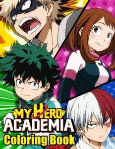 Libro para colorear de My Hero Academia de 110 paginas 3 Los mejores libros para colorear de My Hero Academia Boku no Hero