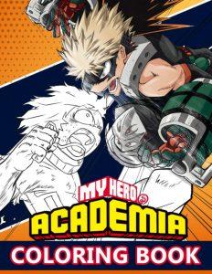 Libro para colorear de My Hero Academia de 110 paginas 4 Los mejores libros para colorear de My Hero Academia Boku no Hero