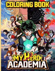 Libro para colorear de My Hero Academia de 68 paginas Los mejores libros para colorear de My Hero Academia Boku no Hero