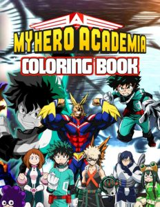 Libro para colorear de My Hero Academia de 86 paginas 3 Los mejores libros para colorear de My Hero Academia Boku no Hero