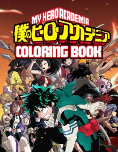 Libro para colorear de My Hero Academia de 86 paginas Los mejores libros para colorear de My Hero Academia Boku no Hero