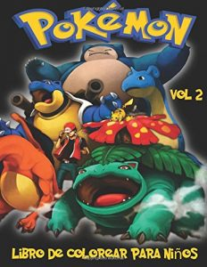Libro para colorear de Pokemon de 100 paginas Vol 2 Los mejores libros para colorear de Pokemon