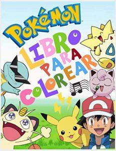 Libro para colorear de Pokemon de 63 paginas Los mejores libros para colorear de Pokemon