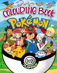 Libro para colorear de Pokemon de 72 paginas 2 Los mejores libros para colorear de Pokemon
