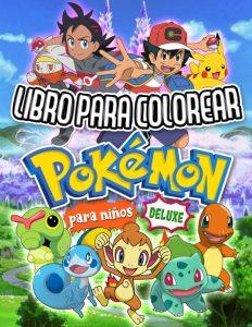 Libro para colorear de Pokemon de 72 paginas Los mejores libros para colorear de Pokemon