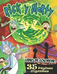 Libro para colorear de Rick y Morty de 100 paginas 2 Los mejores libros para colorear de Rick y Morty