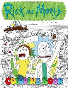 Libro para colorear de Rick y Morty de 106 paginas Los mejores libros para colorear de Rick y Morty