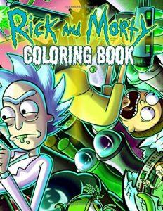 Libro para colorear de Rick y Morty de 110 paginas 3 Los mejores libros para colorear de Rick y Morty