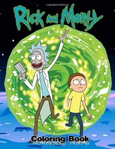 Libro para colorear de Rick y Morty de 110 paginas Los mejores libros para colorear de Rick y Morty