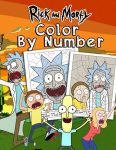 Libro para colorear de Rick y Morty de 66 paginas Los mejores libros para colorear de Rick y Morty
