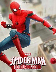 Libro para colorear de Spider man de 110 paginas Los mejores libros para colorear de Spider man de Marvel