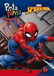 Libro para colorear de Spider man de 224 paginas Los mejores libros para colorear de Spider man de Marvel
