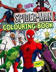 Libro para colorear de Spider man de 56 paginas Los mejores libros para colorear de Spider man de Marvel