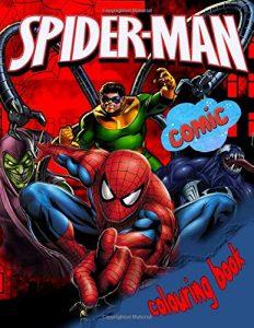 Libro para colorear de Spider man de 62 paginas 2 Los mejores libros para colorear de Spider man de Marvel