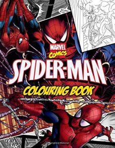 Libro para colorear de Spider man de 62 paginas Los mejores libros para colorear de Spider man de Marvel