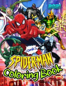 Libro para colorear de Spider man de 72 paginas Los mejores libros para colorear de Spider man de Marvel