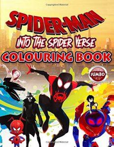 Libro para colorear de Spider man de 76 paginas de Into the Spiderverse Los mejores libros para colorear de Spider man de Marvel