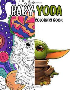 Libro para colorear de Star Wars de 104 paginas de Baby Yoda Los mejores libros para colorear de Star Wars