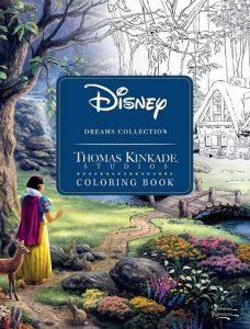 Libro Para Colorear De Thomas Kinkade De Disney De 68 Páginas – Los Mejores Libros Para Colorear De Disney
