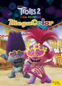 Libro para colorear de Trolls 2 Mega Color de 120 paginas Los mejores libros para colorear de Trolls de Dreamworks
