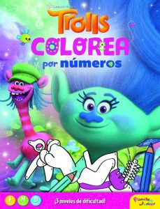 Libro para colorear de Trolls de 24 paginas por numeros Los mejores libros para colorear de Trolls de Dreamworks