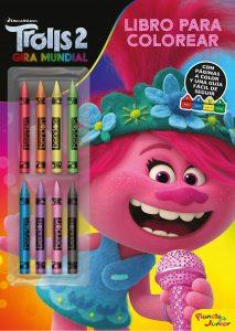 Libro para colorear de Trolls de 32 paginas Los mejores libros para colorear de Trolls de Dreamworks