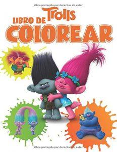 Libro para colorear de Trolls de 52 paginas Los mejores libros para colorear de Trolls de Dreamworks