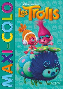 Libro para colorear de Trolls de 96 paginas 2 Los mejores libros para colorear de Trolls de Dreamworks