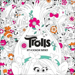Libro para colorear de Trolls de 96 paginas Los mejores libros para colorear de Trolls de Dreamworks