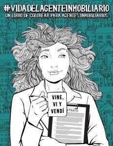 Libro para colorear de Vida del agente inmobiliario Un sarcastico libro de colorear para adultos Los mejores libros para colorear de Vida de para adultos