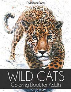 Libro Para Colorear De Wild Cats De 100 Páginas – Los Mejores Libros Para Colorear De Leones Y Animales