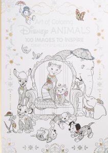 Libro para colorear de animales de Disney de 100 paginas Los mejores libros para colorear de animales de Disney