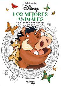 Libro para colorear de animales de Disney de 60 paginas Los mejores libros para colorear de animales de Disney