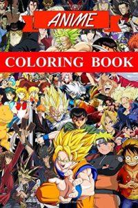 Libro para colorear de animes y mangas de 92 paginas Los mejores libros para colorear de animes y mangas famosos