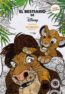 Libro para colorear de bestiario de Disney de 100 paginas Los mejores libros para colorear de animales de Disney