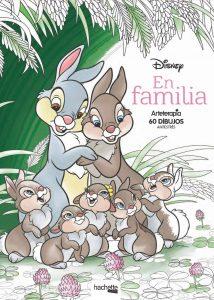 Libro para colorear de en familia de Disney de 60 paginas Los mejores libros para colorear de animales de Disney