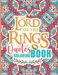 Libro para colorear de frases del Senor de los Anillos de 60 paginas Los mejores libros para colorear del senor de los anillos