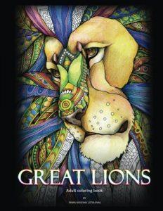 Libro Para Colorear De Leones De 50 Páginas – Los Mejores Libros Para Colorear De Leones Y Animales
