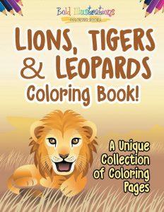 Libro Para Colorear De Leones, Tigres Y Leopardos De 70 Páginas – Los Mejores Libros Para Colorear De Leones Y Animales