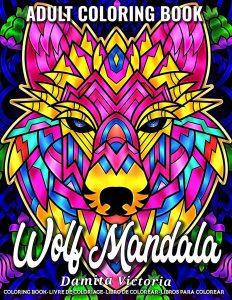 Libro Para Colorear De Lobos De Mandalas De 40 Páginas – Los Mejores Libros Para Colorear De Lobos Y Animales