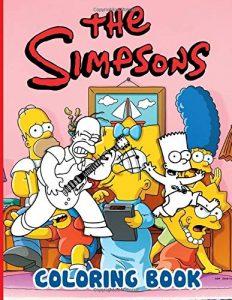 Libro para colorear de los Simpsons de 100 paginas 2 Los mejores libros para colorear de los Simpsons
