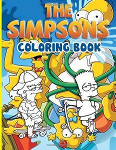 Libro para colorear de los Simpsons de 100 paginas Los mejores libros para colorear de los Simpsons