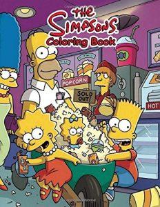 Libro para colorear de los Simpsons de 110 paginas Los mejores libros para colorear de los Simpsons
