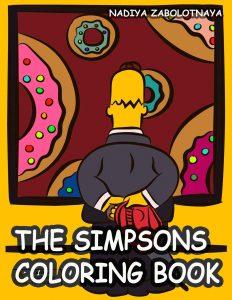 Libro para colorear de los Simpsons de 50 paginas Los mejores libros para colorear de los Simpsons